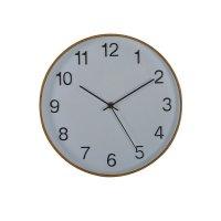 Reloj Plastico Blanco-Madera.