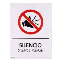 Señal de Silencio 15X20cm