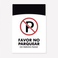 Señal Favor No Parquear C20 50X33Cm