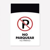 Señal No Parquear C20 35X24Cm