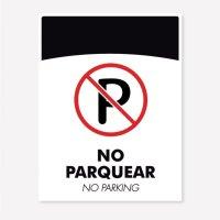 Señal Prohibido Parquear C20 21X16Cm