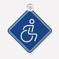 Señal Reflectiva Discapac C40 14X14Cm