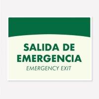 Señal Salida Emergencia Foto C20 21X16Cm