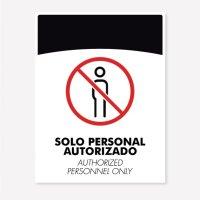 Señal Solo Personal Autoriza C20 21X16Cm