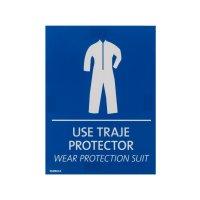 Señal Use Traje Protector 15 x 20 cm