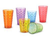 Set 6 Vasos Color Alto