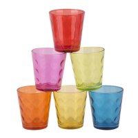 Set 6 Vasos Color Bajo