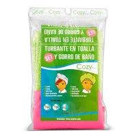 Set Turbante Toalla + Gorro Baño