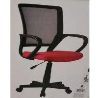 Silla Oficina PC Malla Negro/Rojo
