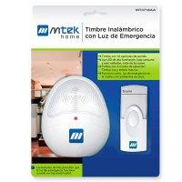 Timbre Inalámbrico MT3718AA con Luz Emergencia 100-240v