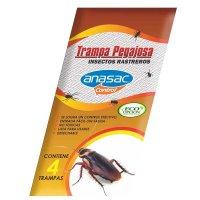 Trampa Pegajosa Insectos Rastreros x4und
