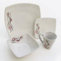 Vajilla Splendor Olas 16 Piezas Porcelana