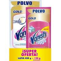 Vanish desmanchador polvo blanco 450gr + rosa 120gr