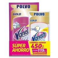 Vanish desmanchador polvo rosa 450gr + blanco 120gr