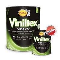 Vinilo Viniltex Vida Eco 1gl Blanco Gratis 1/4 Gl