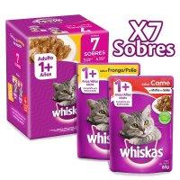 Whiskas Sobre Gatos Surtidos X 7X85Gr C/U