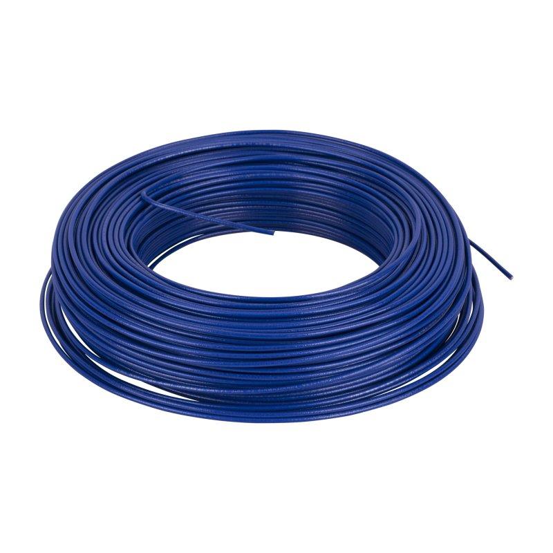 Alambre cobre 14 azul 100mt
