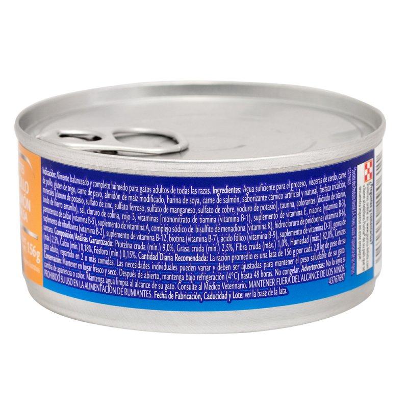 Alimento húmedo para Gatos Felix pollo y salmón en salsa x 156 gr