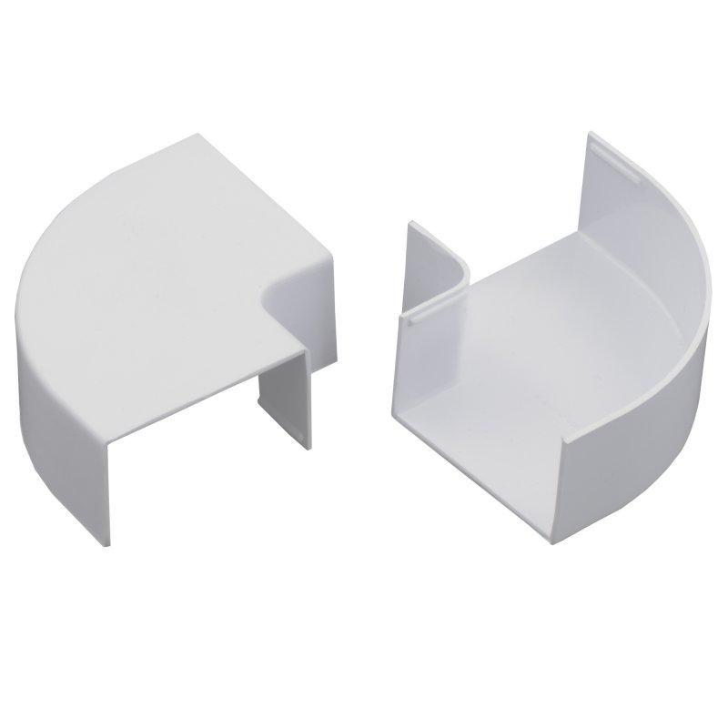 Ángulo Plano 4 x 25 mm Pvc Blanco