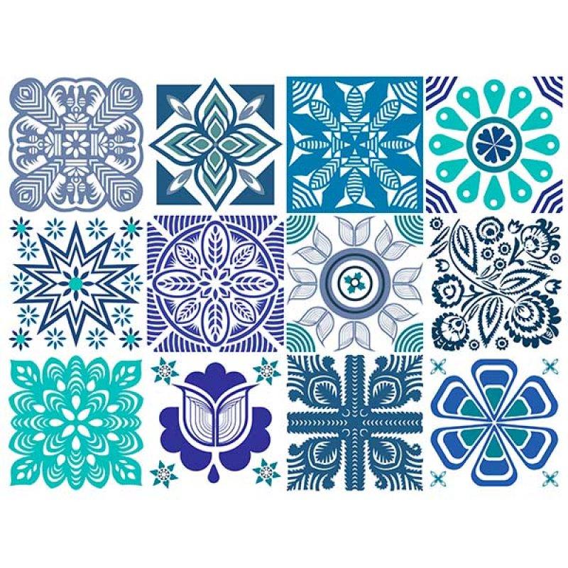 Aqua Adhesivo Transparente Decorativo 12 Unidades 15x15cm
