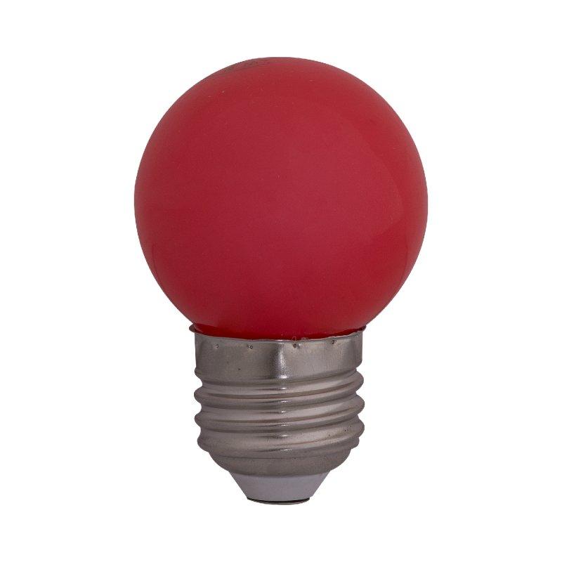 Bombillo Led Pinp Pong E27 6000k 1w Roja x110 v