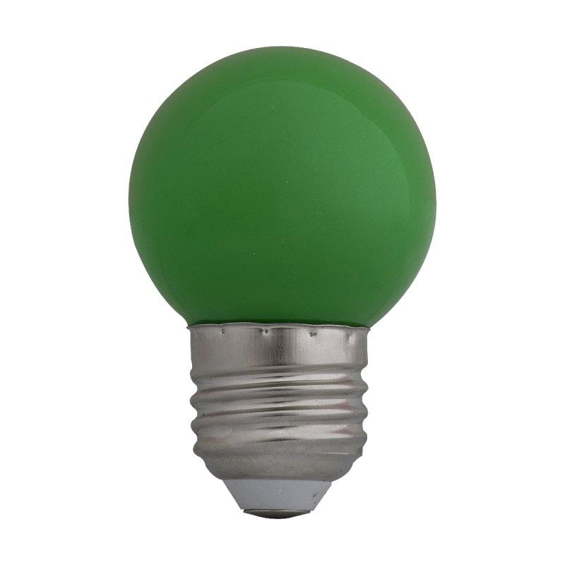 Bombillo Led Pinp Pong E27 6000k 1w Verde x110 v