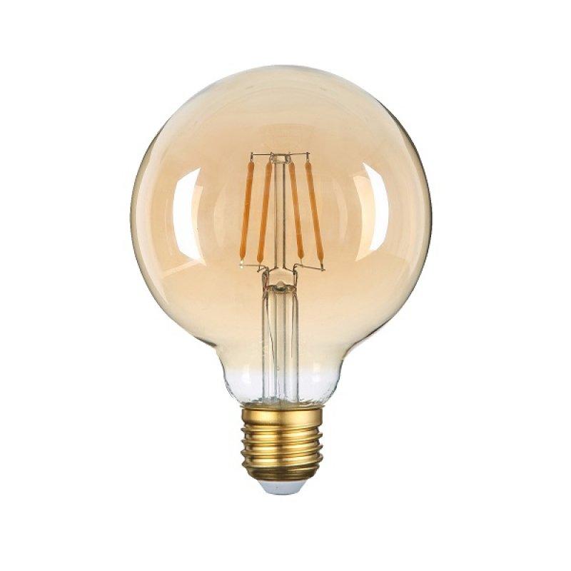 Bombillo Led Vintage G125 6W Golden E27 Luz Cálida