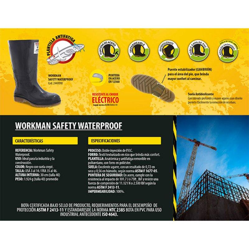 Bota Workman Safety Negro Talla 40