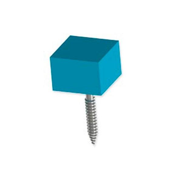 Botón 3x3cm Mobiliario Cubo Colores Tornillo Tuerca