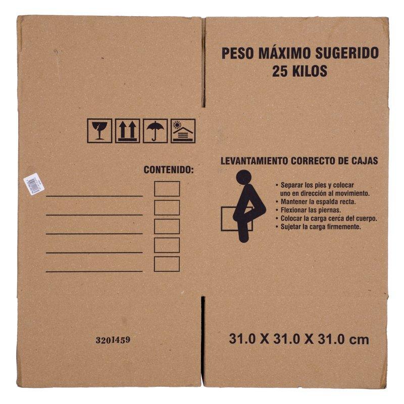 Caja Cartón 31 cm x 31 cm x 31 cm