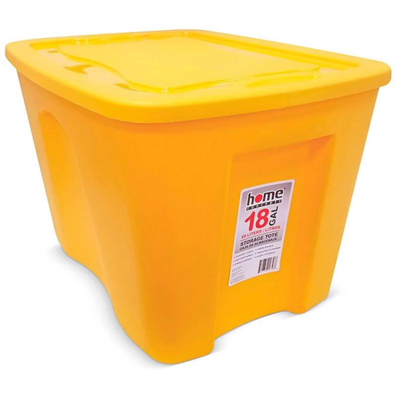 Caja Organizadora 68 Lts Amarilla