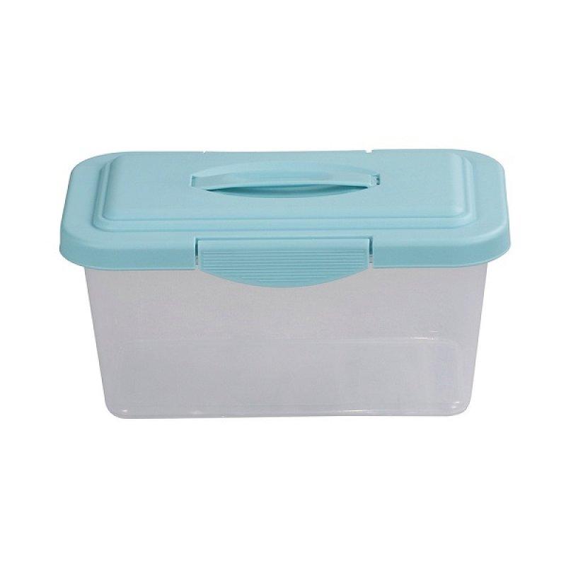 Caja Plástica 6 Litros Traslucida Azul
