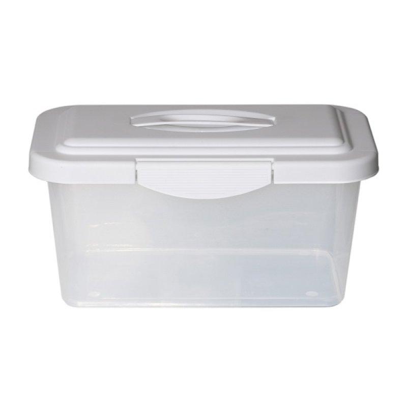 Caja Plástica 6 Litros Traslucida Blanca