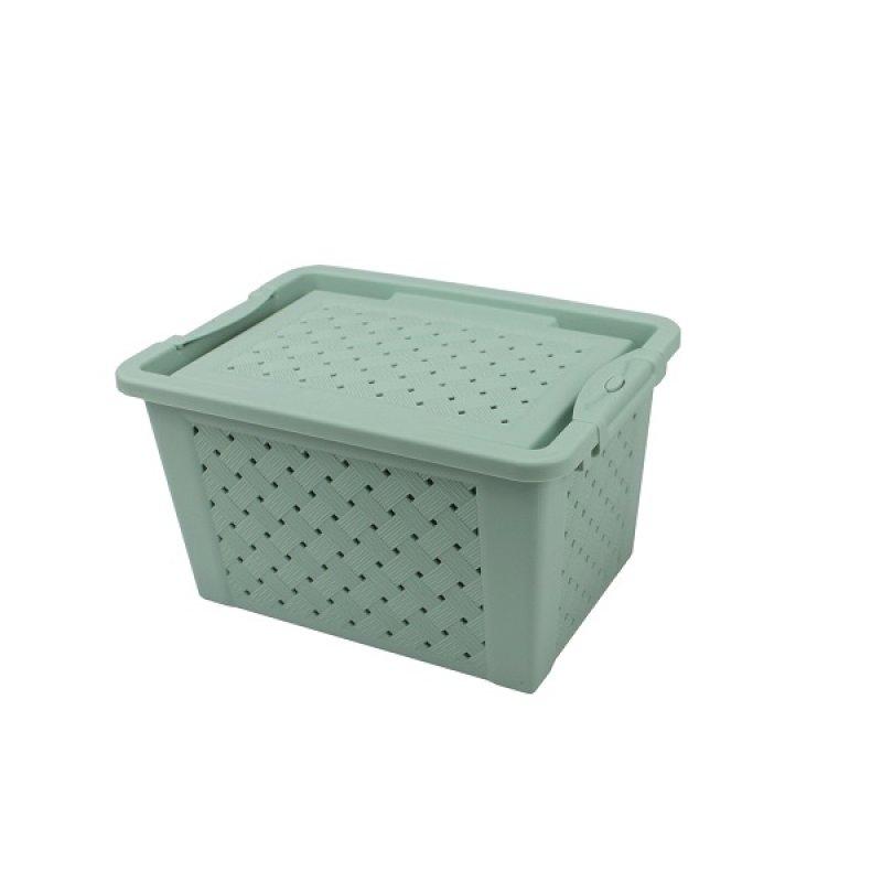 Caja Plástica Calada Con Cierre 7 Lts Menta