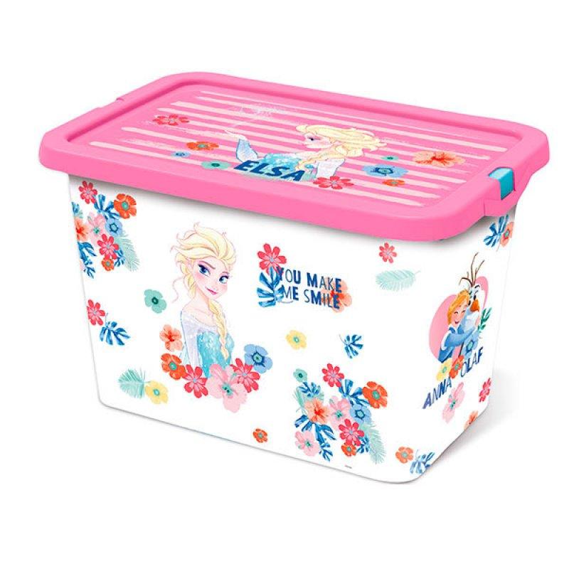 Caja Plastica Con Tapa Broche Frozen 7Lt
