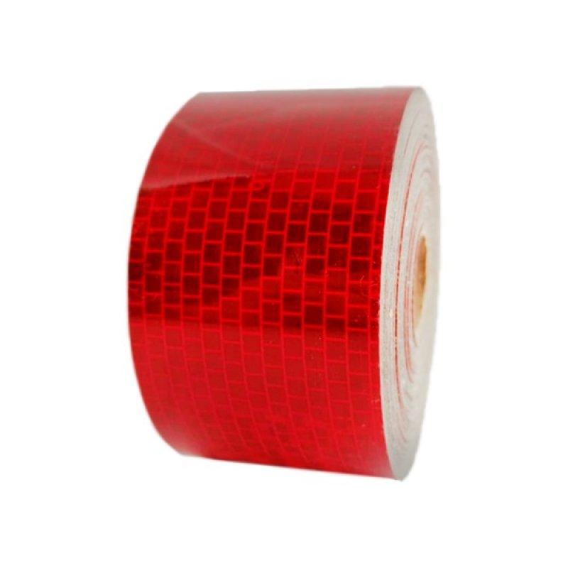 Cinta Retroreflectiva Señalizacion Vehicular Certificada 5Cms X 12Mts Color Rojo