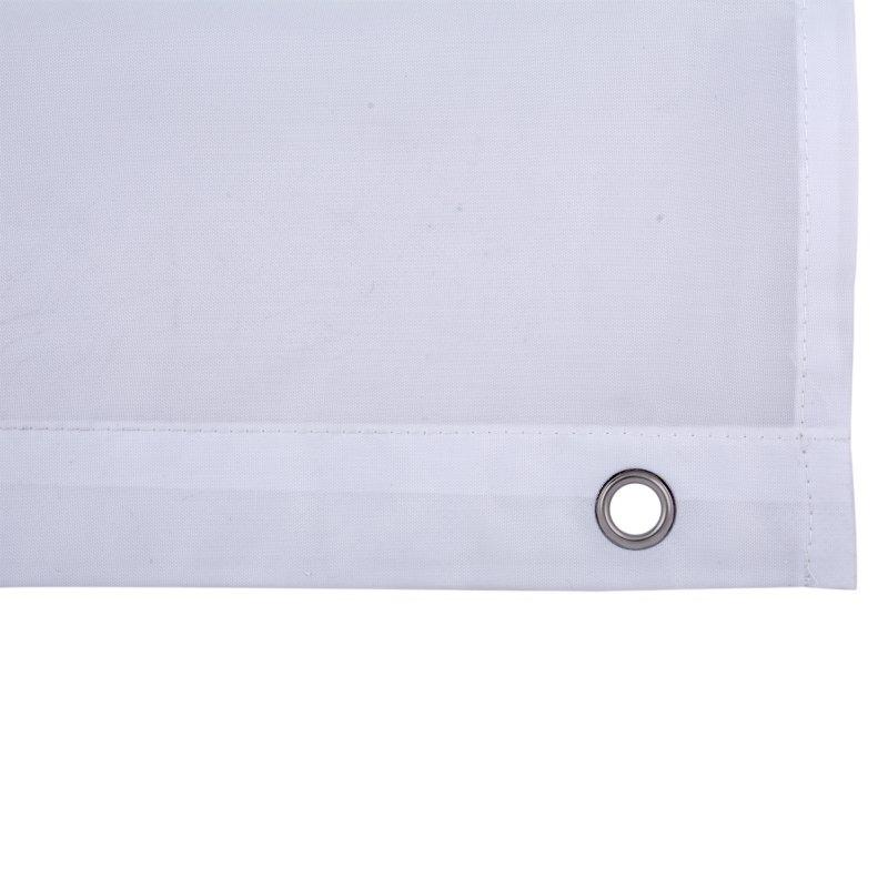 Cortina Impermeable 200 cm x 180 cm Conchas Baño Poliéster Blanco