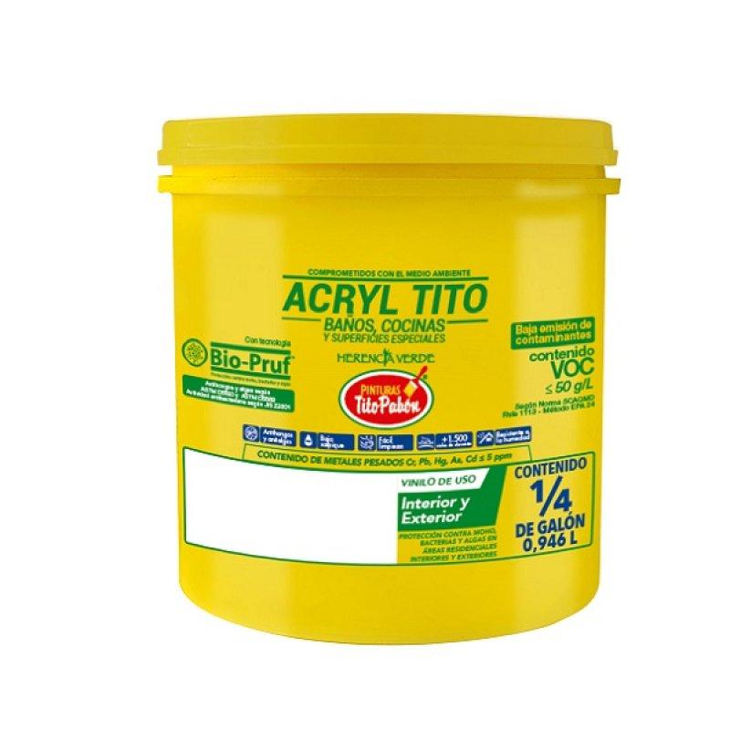 Esmalte Agua Byc 1/4Gl Auranivea Blanco mate