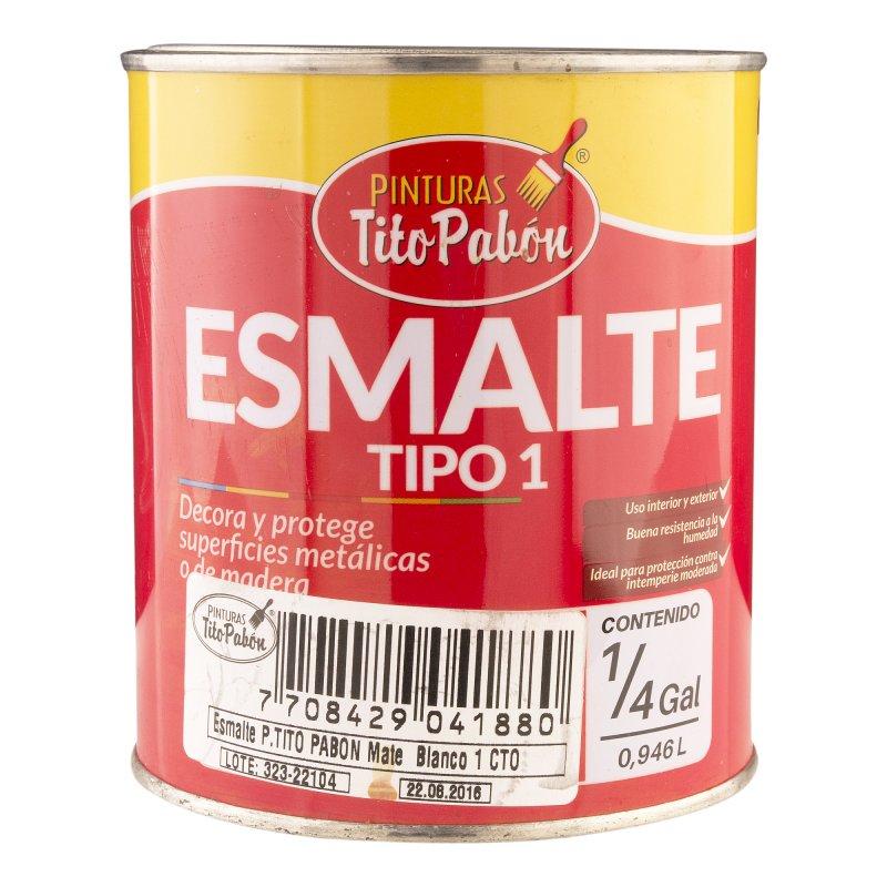 Esmalte Tipo 1 Blanco Mate x1/4 gal