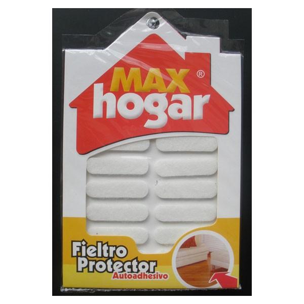 Fieltro Protección Ovalo Blanco  12un MAX HOGAR