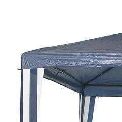 Gazebo Normal de 2,4X2,4X3m en Rafia Azul-Blanco