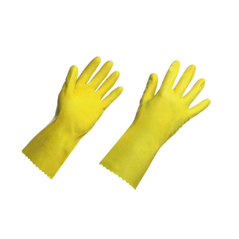 Guante Multiuso Latex Talla L Amarillo