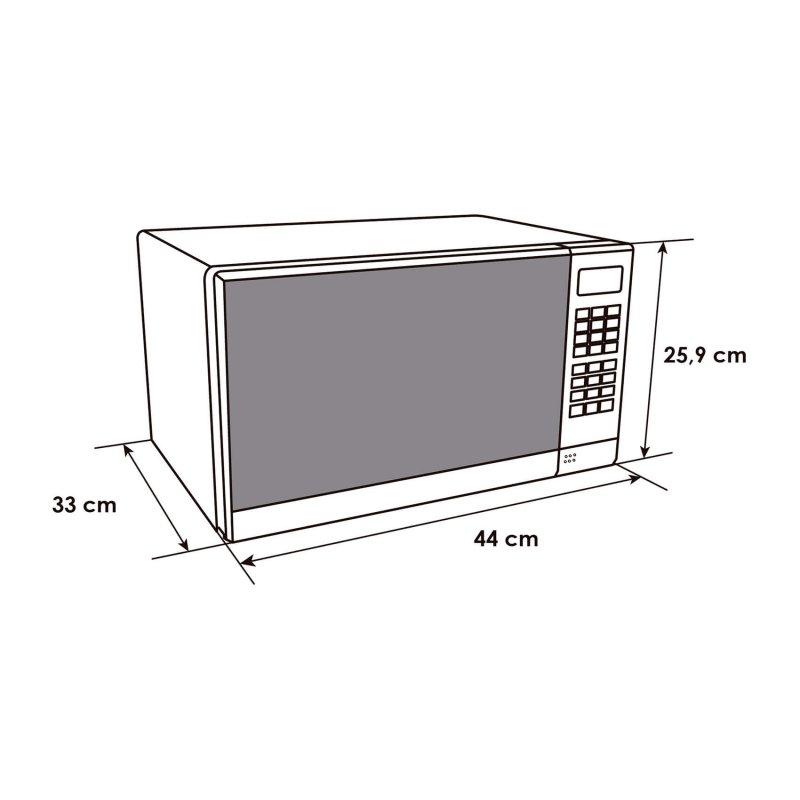 Microondas Abba 20Lt Silver Hma720Cee