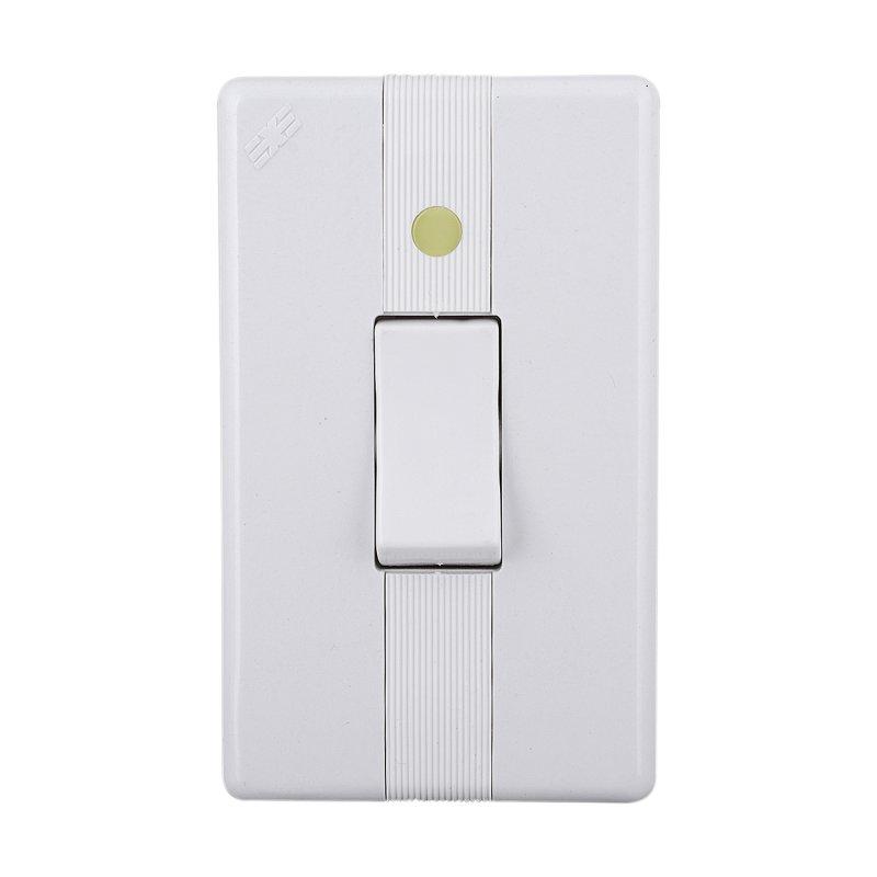 Interruptor Sencillo Abitare Blanco con Testigo Fosforescente