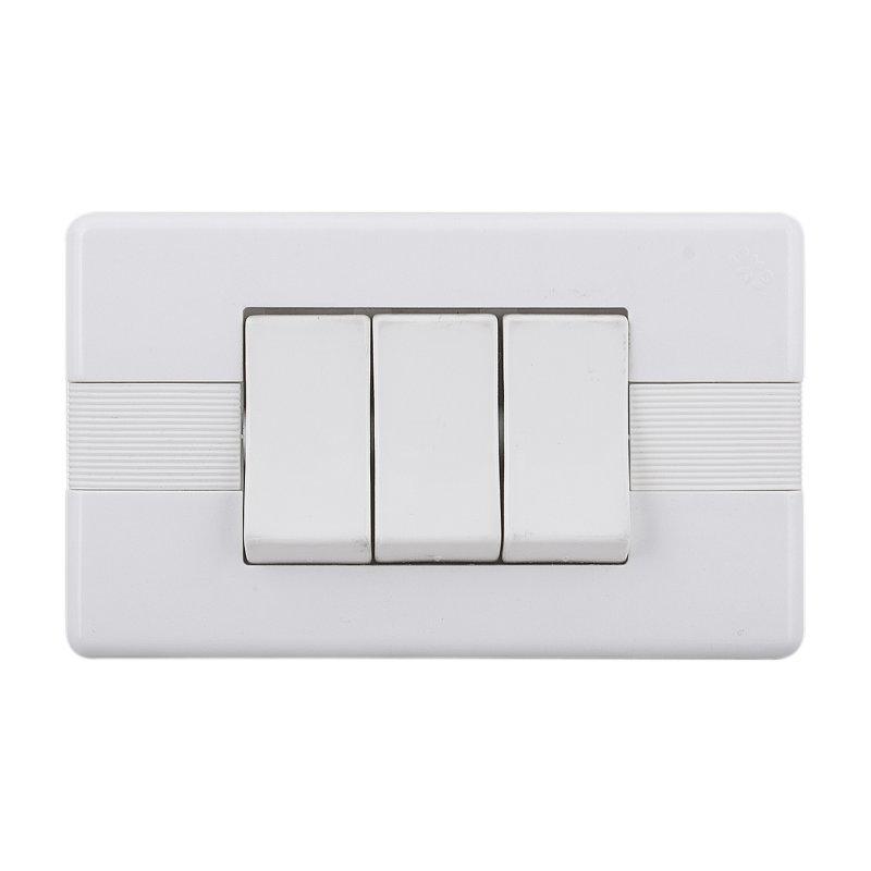 Interruptor Triple Abitare Conmutable Blanco