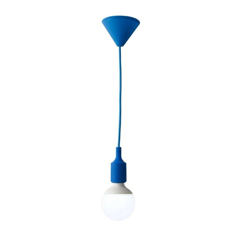 Lámpara de Colgar 1 Luz Soquete Colores E27, Azul