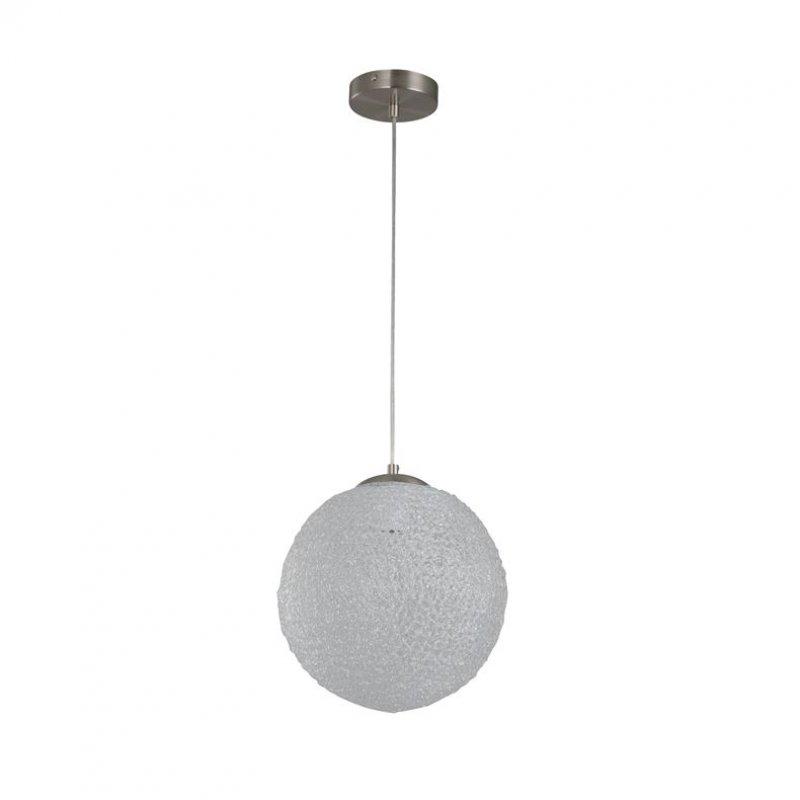 Lámpara de Colgar Rin Niquel 1 Luz E27 28Cm