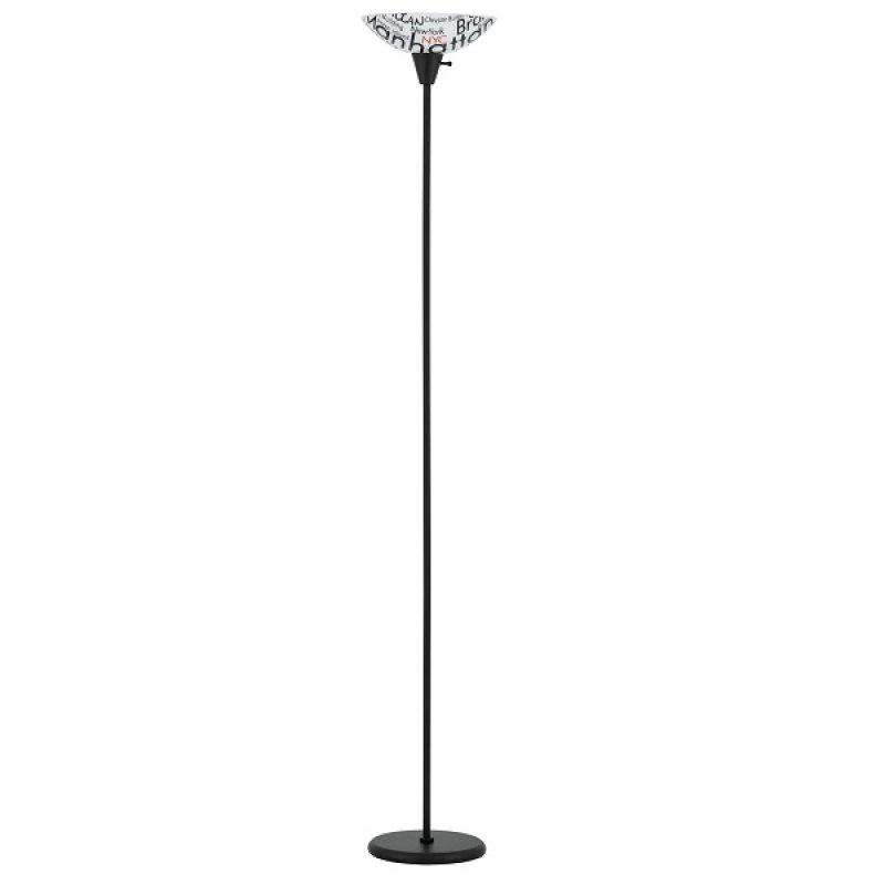 Lámpara de Piso Color Negro New York 1 Luz E27 60W