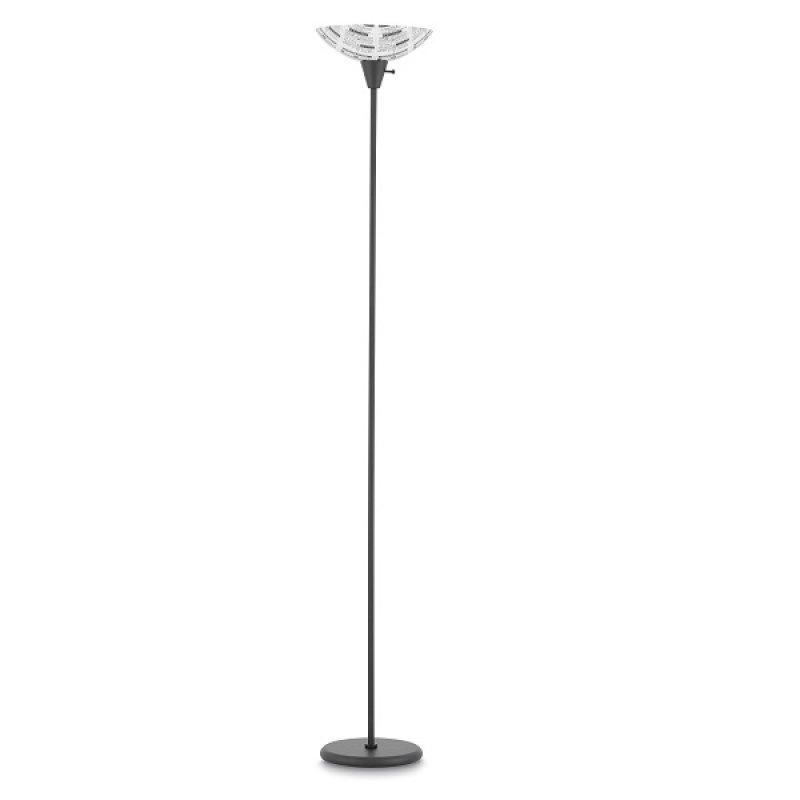 Lámpara de Piso Color Negro Periódico 1 Luz E27 60W