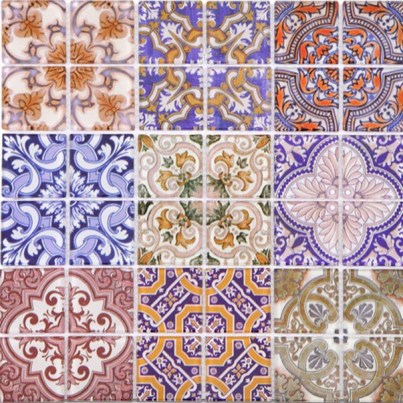 Mosaico Español 30X30X0.4Cm